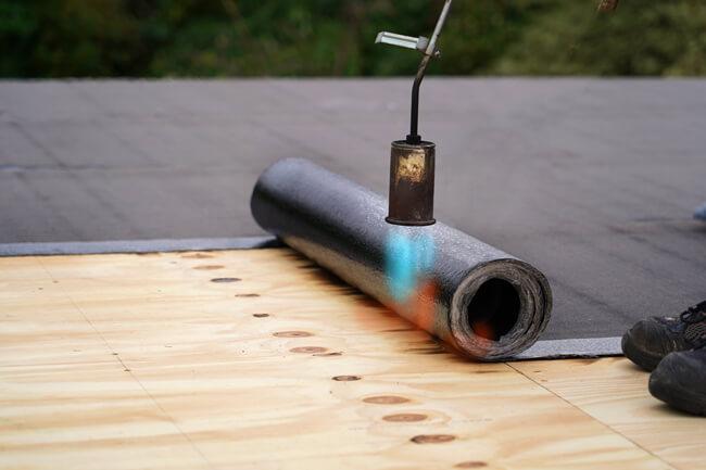 torch on bitumen roof